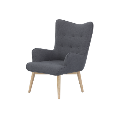 Rio Lounge Chair - Carbon - Image 1