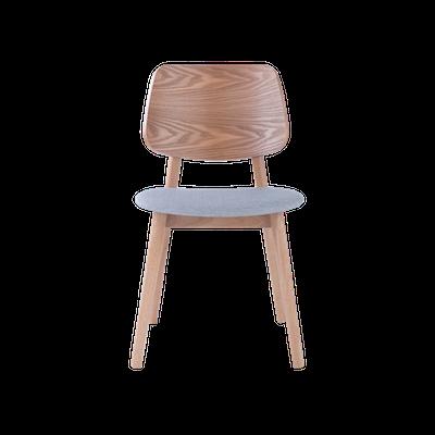 Riley Dining Chair - Oak, Light Grey (Set of 2) - Image 2