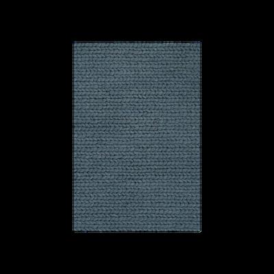 Plait 100% Handloom Wool Rug (2m by 3m) - Petrol Blue - Image 2