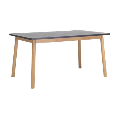 Kendall Dining Table 1.5m - Natural, Graphite Grey - Image 1