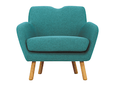 Joanna Lounge Chair  - Nile Green - Image 2