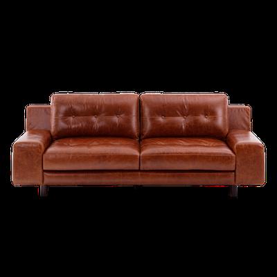 Wyatt 3 Seater Sofa - Cigar (Premium Leather) - Image 1