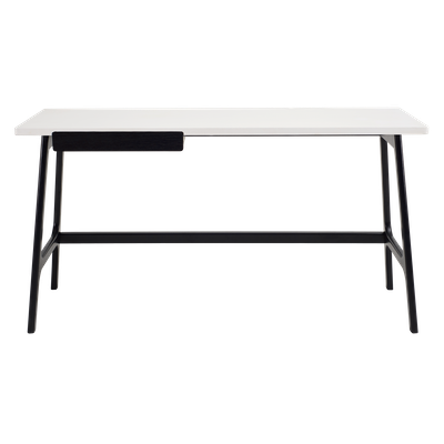 Morey Working Desk - Black, White, Black Ash - Image 1