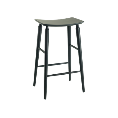Lester Bar Stool - Charcoal Grey Lacquered - Image 1