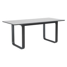 Ulmer 8 Seater Dining Table - White Grey - Image 2