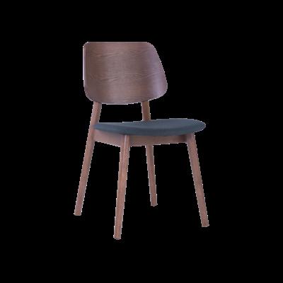 Riley Dining Chair - Walnut, Dark Grey (Set of 2) - Image 1