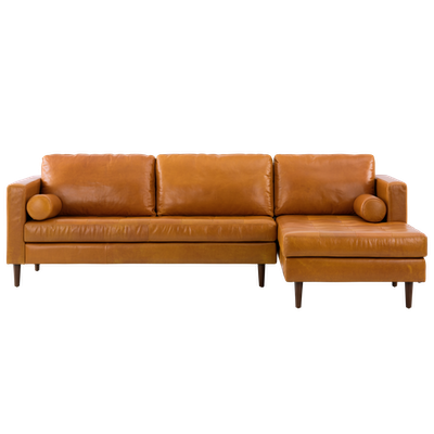 Nolan L Shaped Sofa - Butterscotch (Premium Leather) - Image 1