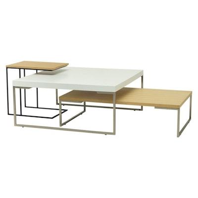 Micah Side Table - Walnut, Matt Black - Image 2