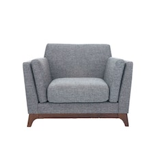 Elijah Single Seater Sofa - Cocoa, Pebble - Image 1