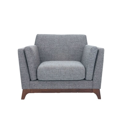 Elijah Single Seater Sofa - Cocoa, Pebble - Image 1