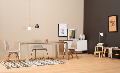 Elwood Dining Table 1.8m - Taupe Grey - Image 2