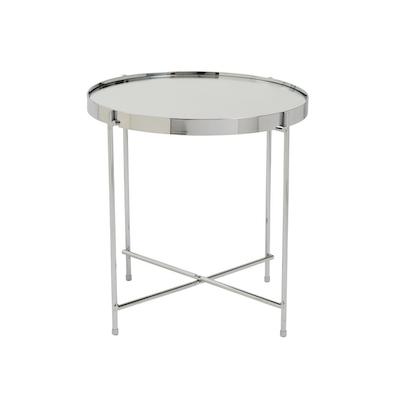 Chloe Round Side Table - Nickel - Image 2