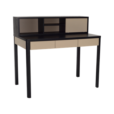 Mabon Working Desk with Storage - Black Ash - Image 1