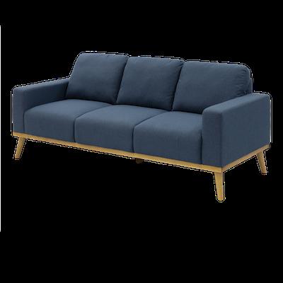 Malcolm 3 Seater Sofa - Denim - Image 2