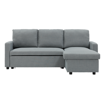 Mia L Shape Sofa Bed with Storage - Slate - Image 1