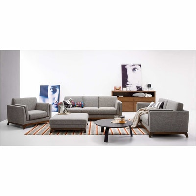 Elijah 3 Seater Sofa - Cocoa, Pebble - Image 2