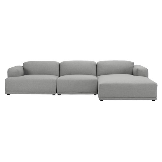 Malmo - Flex 4 Seater L Shape Sofa - Pale Silver