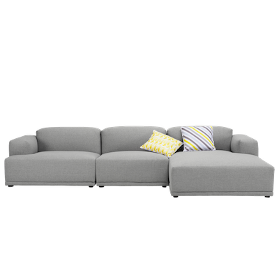 Flex 4 Seater L Shape Sofa - Squirrel grey - Image 1