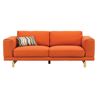 Monza 3 Seater Sofa - Carrot - Image 1
