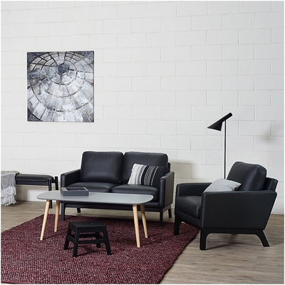 Cove Single Seater Sofa - Black, Mocha - Image 2