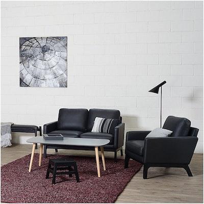 Cove Single Seater Sofa - Black, Mocha - Image 2