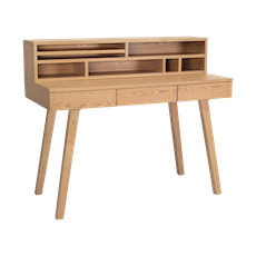 Ezra Working Desk with Storage - Natural - Image 1