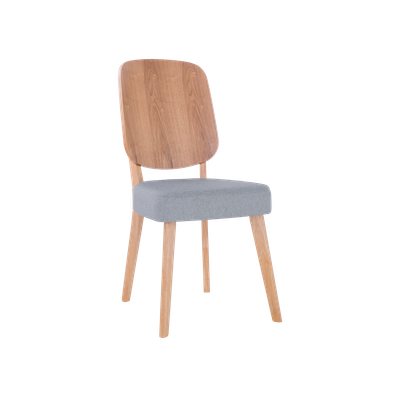 Theodore Dining Chair - Oak, Light Grey (Set of 2) - Image 1
