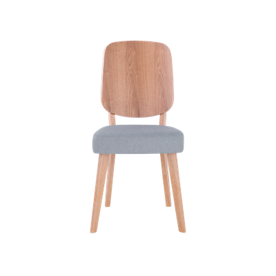 Theodore Dining Chair - Oak, Light Grey (Set of 2) - Image 2