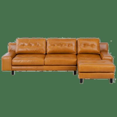 Wyatt L Shape Sofa - Butterscotch (Premium Leather) - Image 2