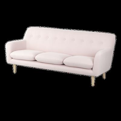 Sienna 3 Seater Sofa - Pink - Image 2