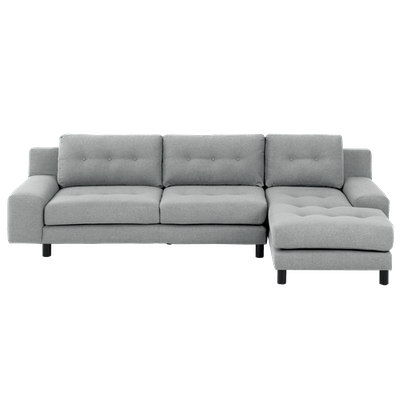 Wyatt L Shape Sofa - Slate (Fabric) - Image 2