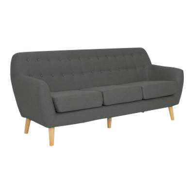 Emma 3 Seater Sofa - Charcoal - Image 2