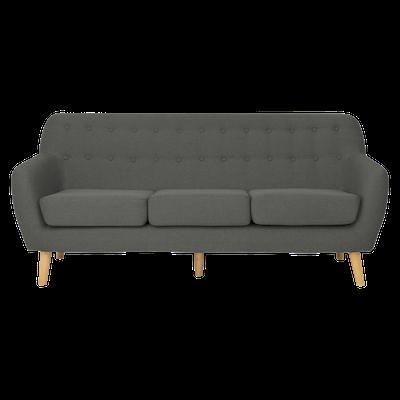 Emma 3 Seater Sofa - Charcoal - Image 1