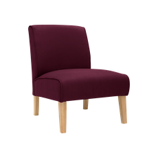 Maya Lounge Chair - Natural, Ruby (Set of 2) - Image 2