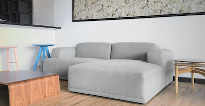Flex 3 Seater L Shape Sofa - Squirrel grey - Image 2