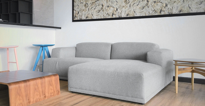 Flex 3 Seater L Shape Sofa - Squirrel grey - Image 2