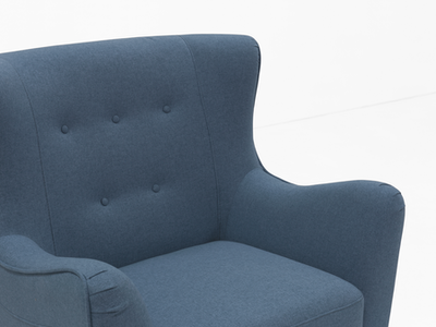 Jacob Armchair - Denim - Image 2