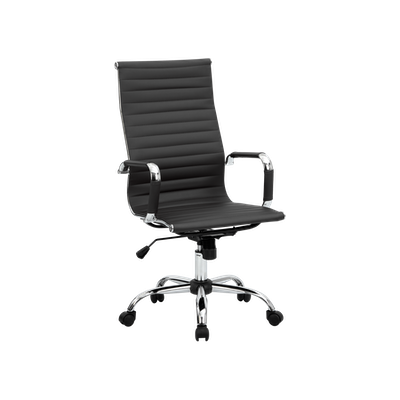 Eames High Back Office Chair - Black (PU) - Image 2