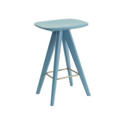 Petite Counter Stool - Dust Blue Lacquered - Image 1