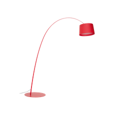 Long-Necked Floor Lamp - Red (Aluminium Shade) - Image 1