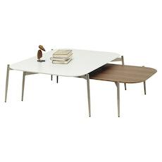 Nova High Coffee Table - Walnut, Matt Black - Image 2