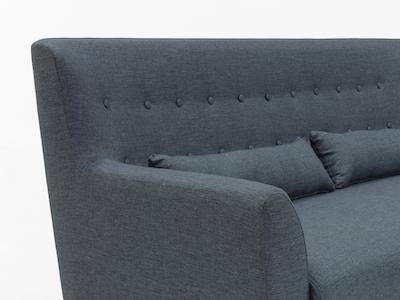 Sofia 3 Seater Sofa - Carbon - Image 2