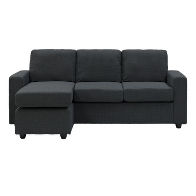 Hank L Shape Sofa - Carbon - Image 2