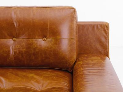 Wyatt 3 Seater Sofa - Butterscotch (Premium Leather) - Image 2