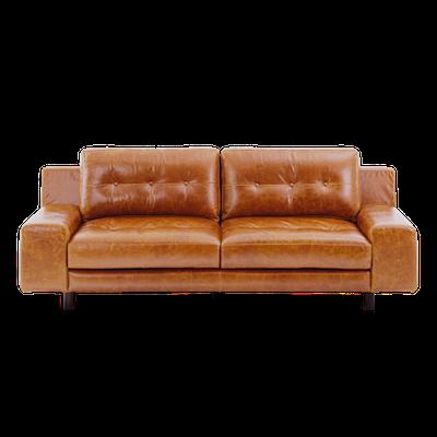 Wyatt 3 Seater Sofa - Butterscotch (Premium Leather) - Image 1