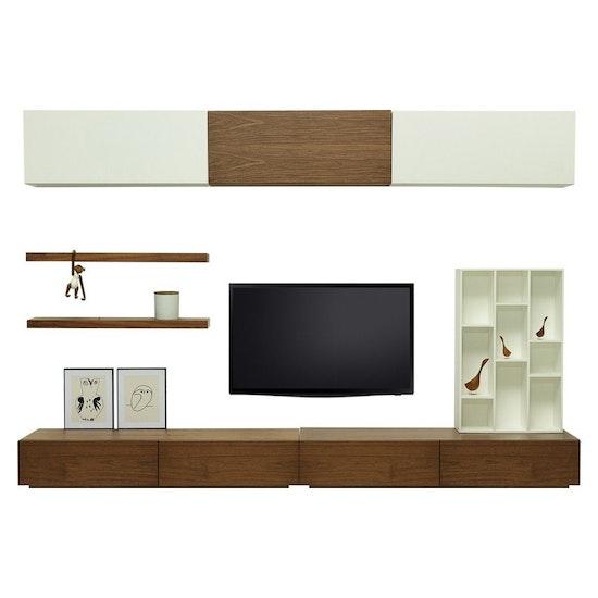 Shape - Vito 1.5M Hanging Cabinet - Walnut