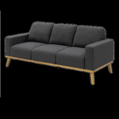 Malcolm 3 Seater Sofa - Charcoal - Image 2