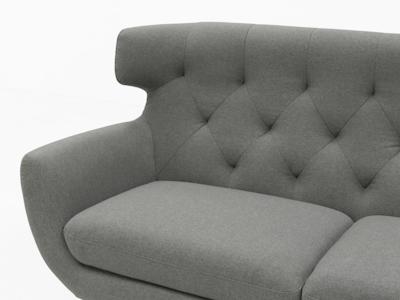 Agatha 3 Seater Sofa - Granite - Image 2
