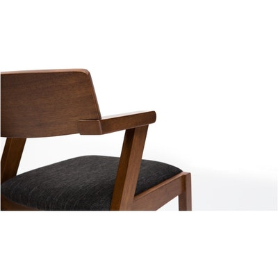 Zola Dining Chair - Cocoa, Pebble (Set of 2) - Image 2