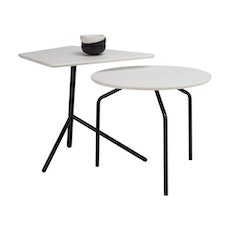 Zen Occasional Table - White, Matt Black - Image 2